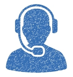 Call center operator grainy texture icon vector