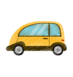 Drawing automobile vehicle eco image vector