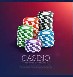 Casino playing chips in stack vector