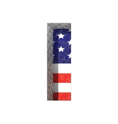 American cutted figure i paste to any background vector