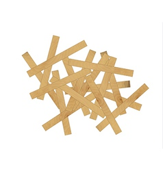Wooden mess vector