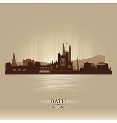 Bath england skyline city silhouette vector