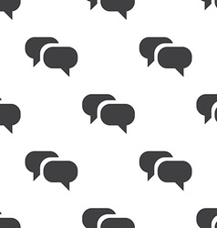 Conversation seamless pattern vector