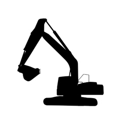Working excavator isolated vector