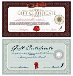 Vintage certificate vector