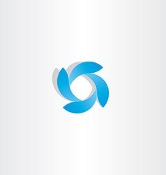 Abstract business logo blue tech icon symbol vector