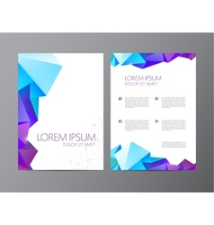 Abstract modern flyer brochure design vector
