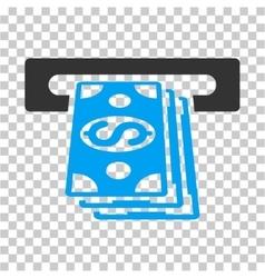 Atm cashout icon vector