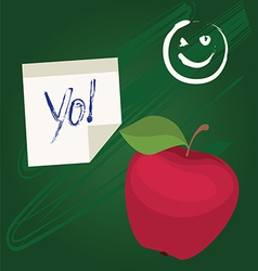 Back to school design with apple vector