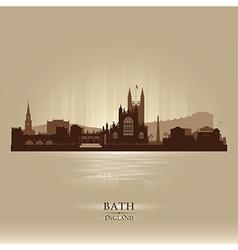 Bath england skyline city silhouette vector