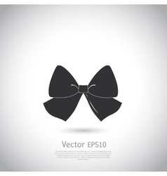 Black bow logo or icon vector