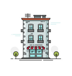 city building flat cartoon vector image