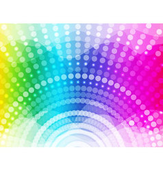 Colorful round and Wave background vector image