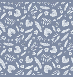 dark grey tropical summer hawaiian seamless vector image