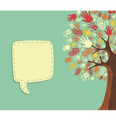 Diversity Tree hands template vector image vector image