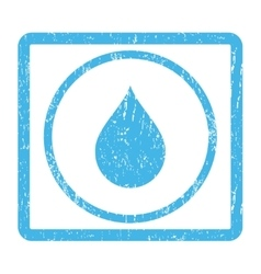 Drop icon rubber stamp vector