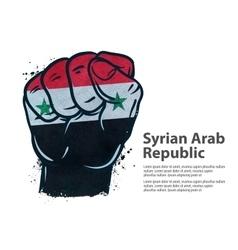 fist flag Syria vector image