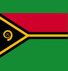 Flag vanuatu islands flat style vector