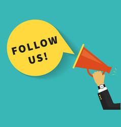 Follow us banner vector