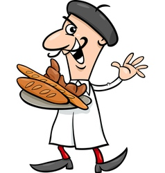 french baker cartoon vector image