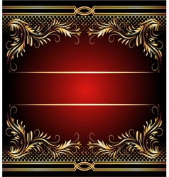 golden ornament vector image