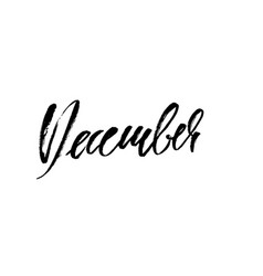 hand drawn typography lettering december month vector image vector image
