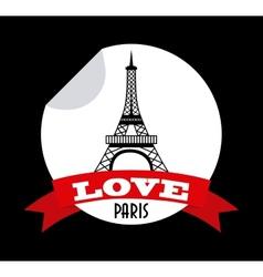 love in paris vector image