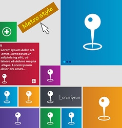 Map pointer icon sign buttons Modern interface vector image