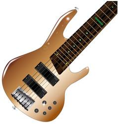 modern bass guitar vector image vector image