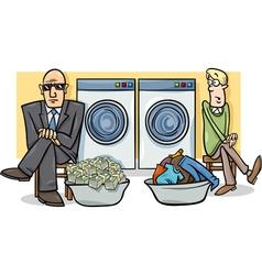 Money laundering cartoon vector