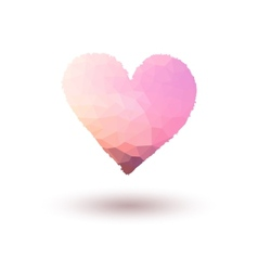 Pink painted heart on gradient background vector