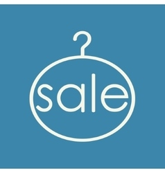 Sale clothing hanger vector