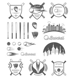 set of logo and badges baseball vector image