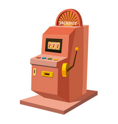 Slot machine icon cartoon style vector