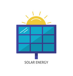 solar panel icon in flat style vector image