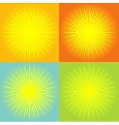 Sunburst abstract background vector image