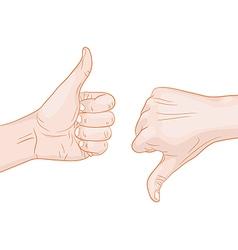 Thumb up thumb down vector