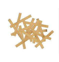 Wooden mess vector