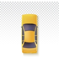 Yellow taxi - top view vector