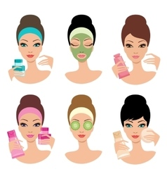 Women and cosmetics vector image