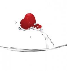 heart splash vector image