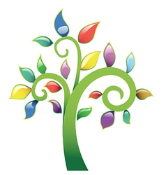 Abstract tree vecor icon vector image