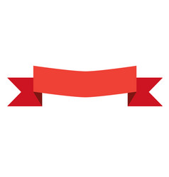 red banner ribbon and label on white background vector image