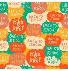 Seamless school pattern with speech bubbles vector image