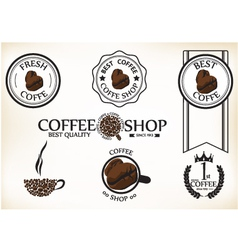 Set of vintage retro coffee shop badges and labels vector