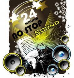grunge music back ground vector image
