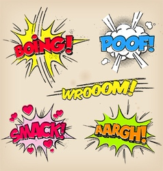 Grunge comic sounds set vector