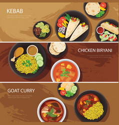 Halal food web banner flat design vector