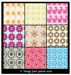 Vintage fower pattern vector