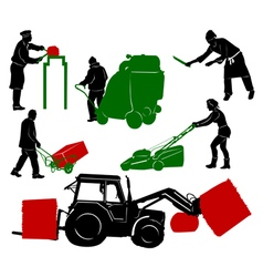 Workspeople 4 vector